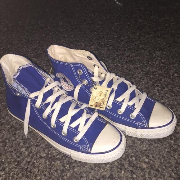 Converse Shoes | Dodger Blue High Top